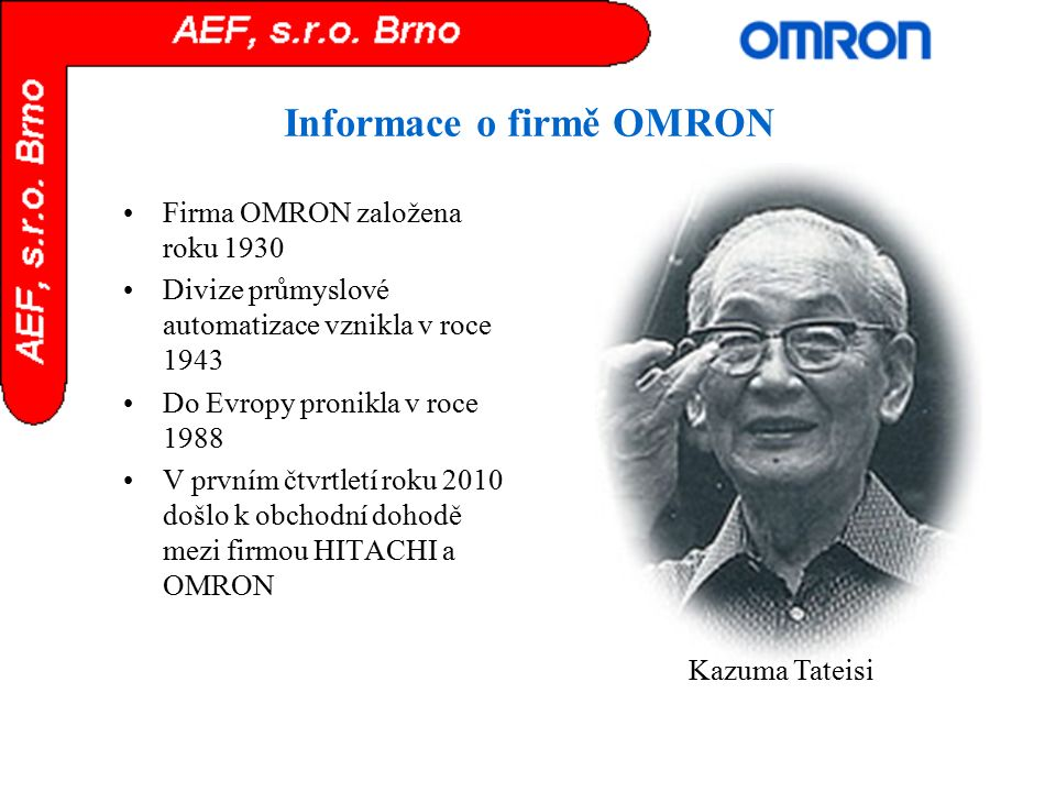 Informace o firmě OMRON