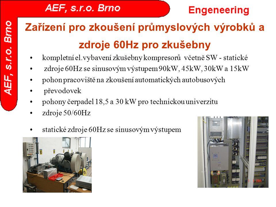 Zařízení pro zkoušení průmyslových výrobků a zdroje 60Hz pro zkušebny