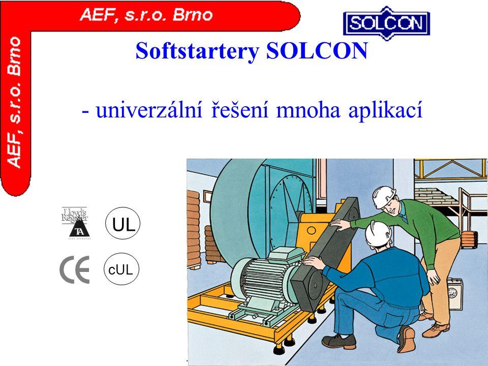 Softstartery SOLCON - univerzální řešení mnoha aplikací