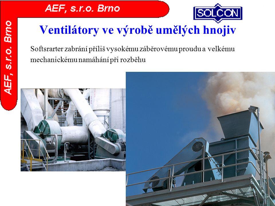 Ventilátory ve výrobě umělých hnojiv