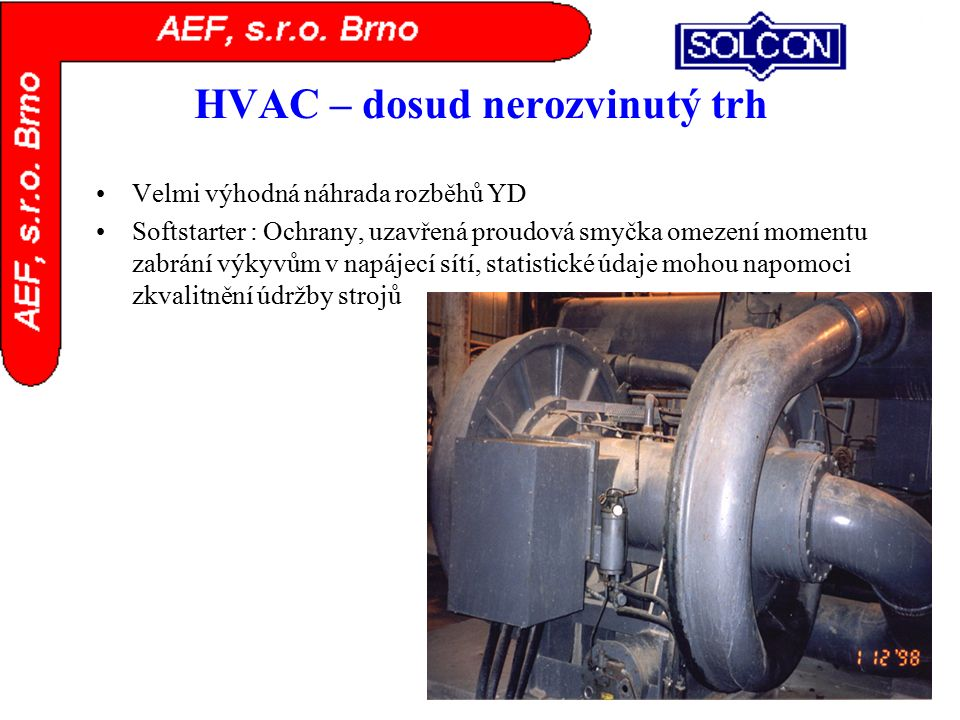 HVAC – dosud nerozvinutý trh