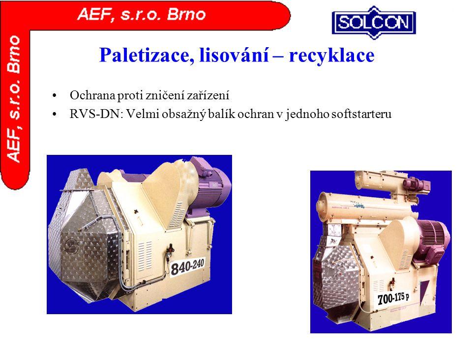 Paletizace, lisování – recyklace