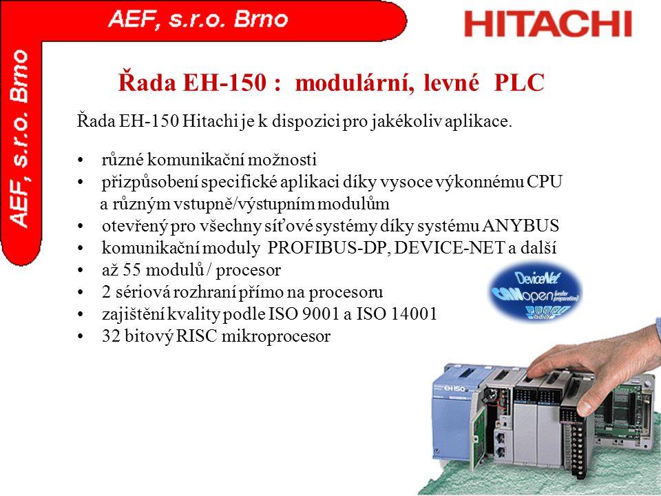 Řada EH-150 : modulární, levné PLC