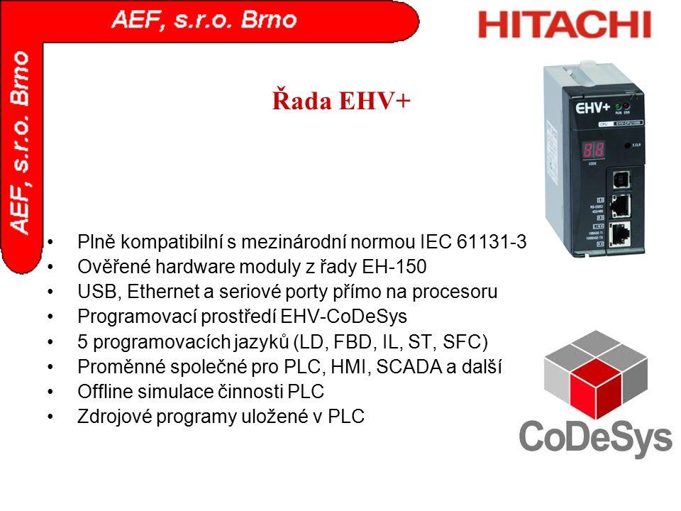Řada EHV+ Plně kompatibilní s mezinárodní normou IEC 61131-3