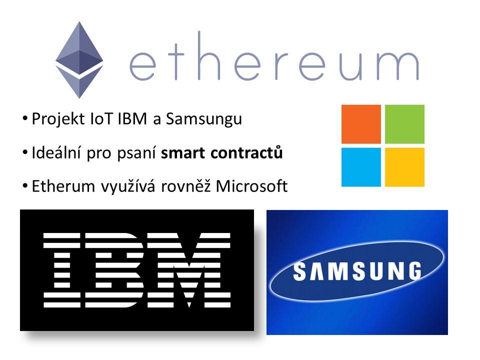 Projekt IoT IBM a Samsungu