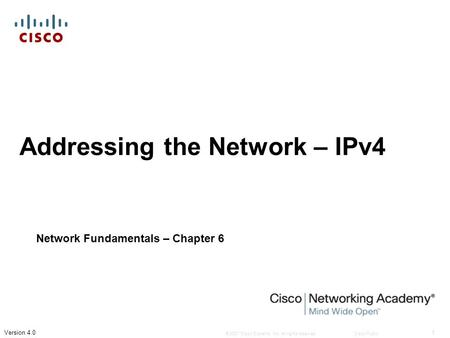 Addressing the Network – IPv4