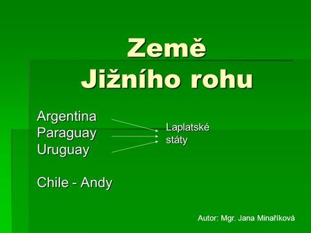 Argentina Paraguay Uruguay Chile - Andy