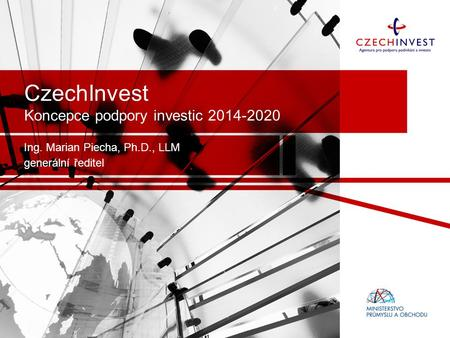 CzechInvest Koncepce podpory investic