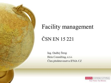 Facility management ČSN EN