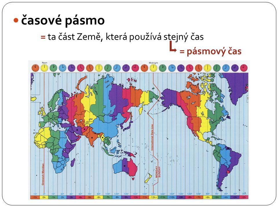 časová pásma mapa