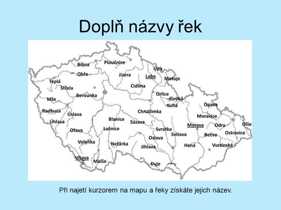 Mapa Mapa Ceske Republiky Reky