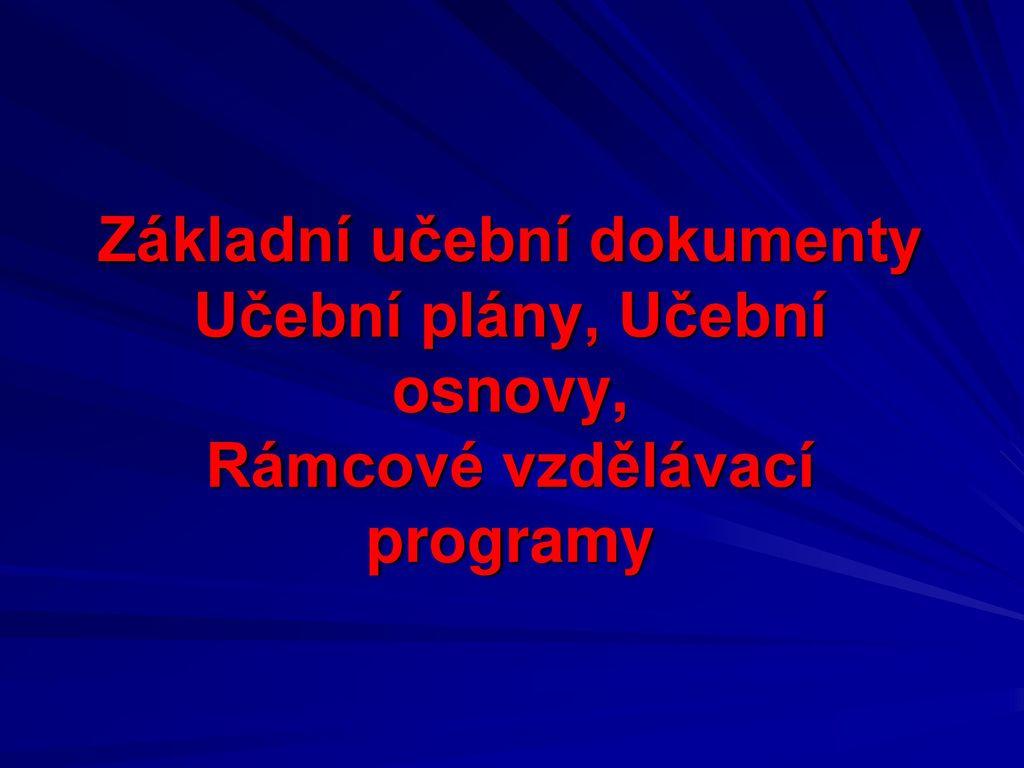 Usporadani Uciva V Pedagogickych Dokumentech Ppt Stahnout