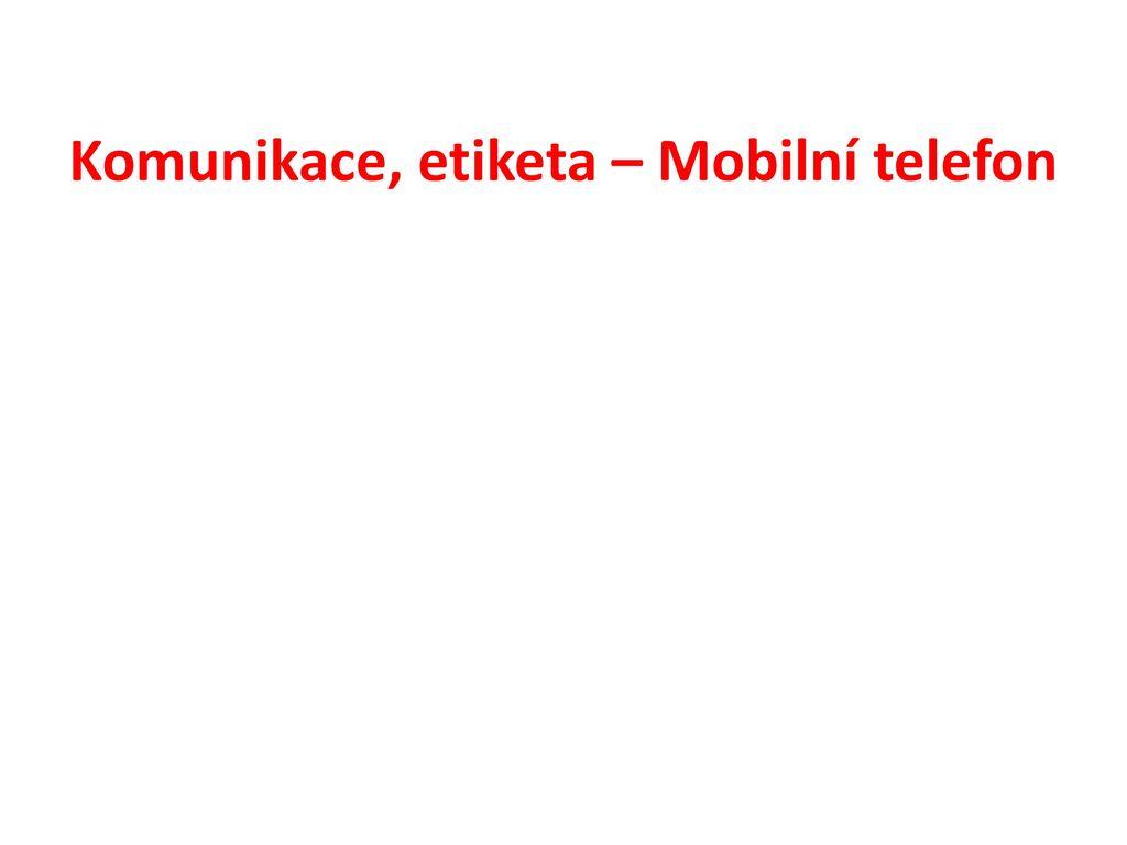 Etiketa mobilního telefonu
