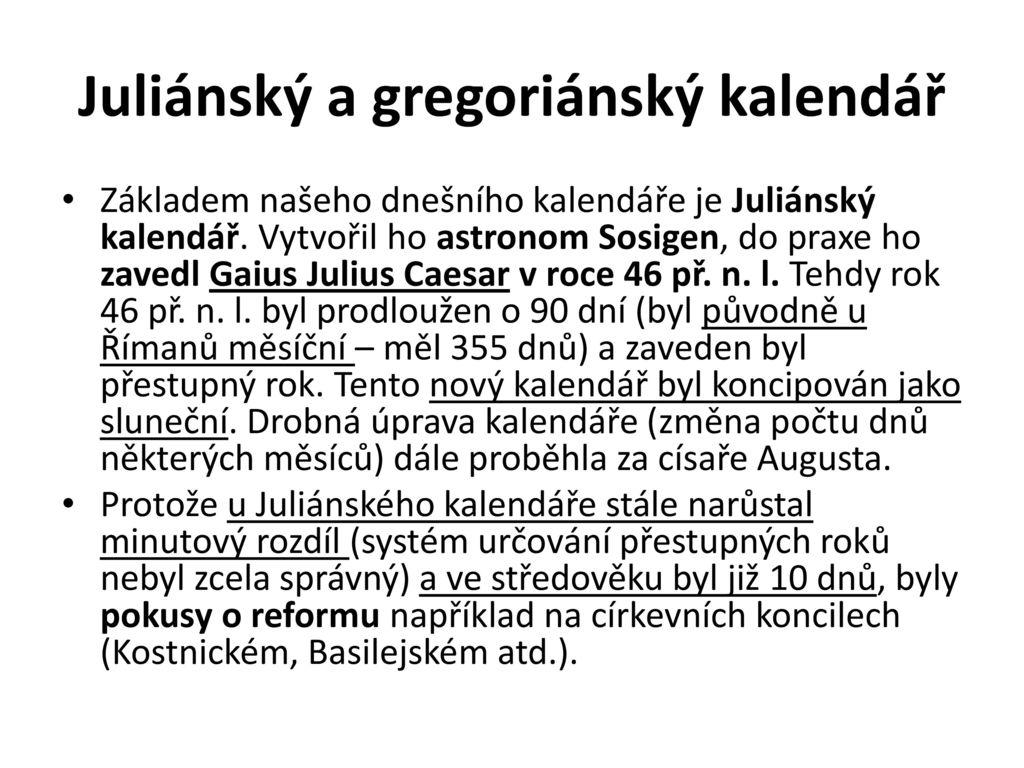 Julian datování