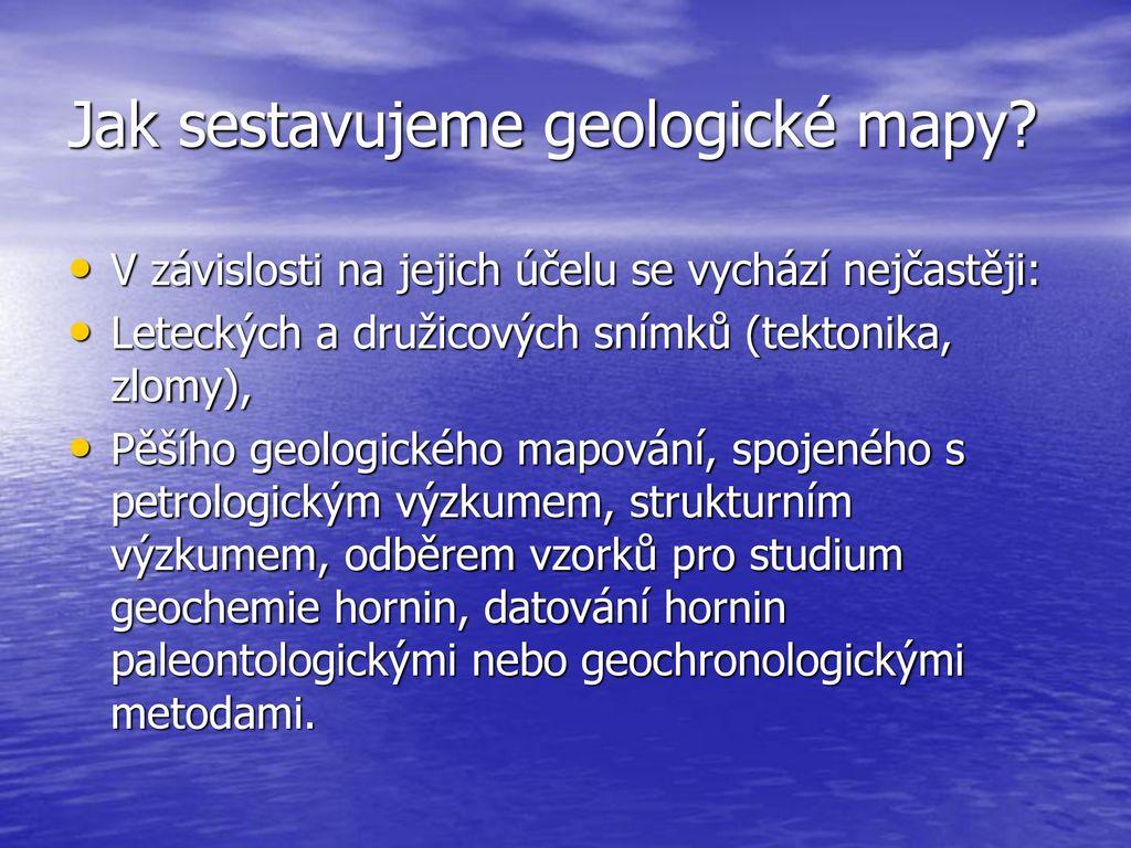 typy geologie datování datování pozadí kontrola uk