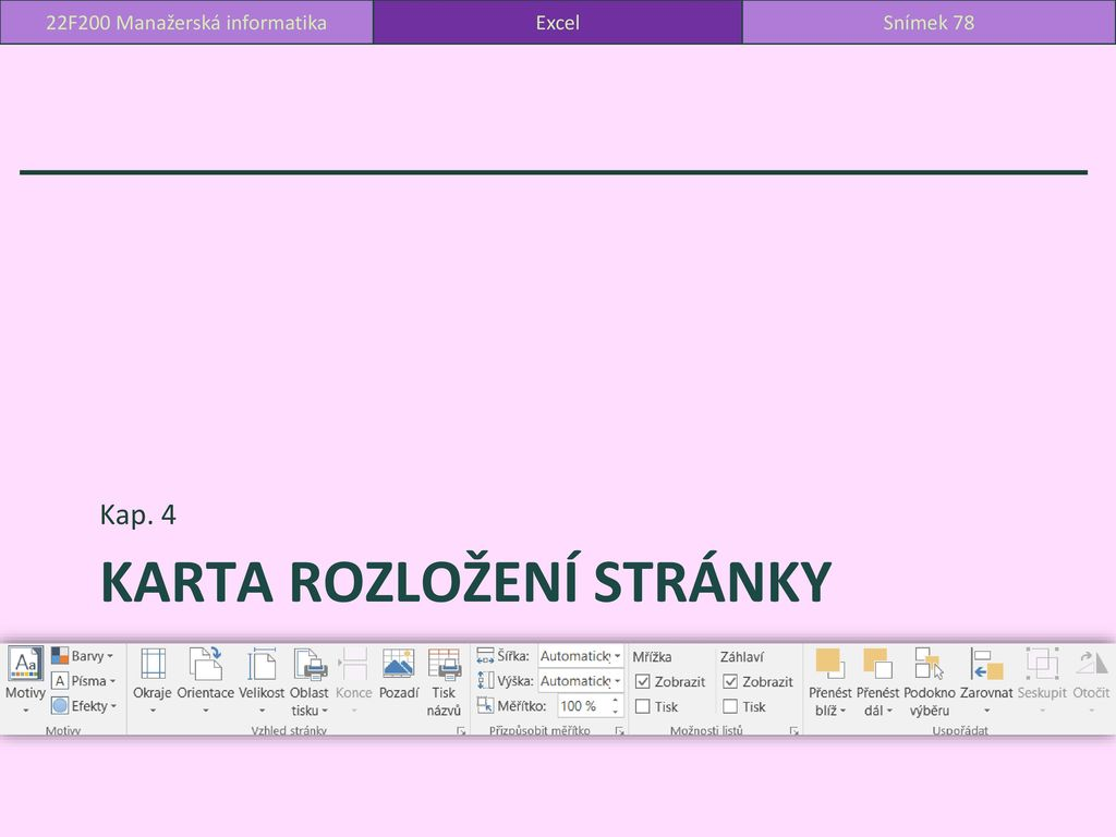 22f200 Manazerska Informatika Microsoft Excel Ppt Stahnout