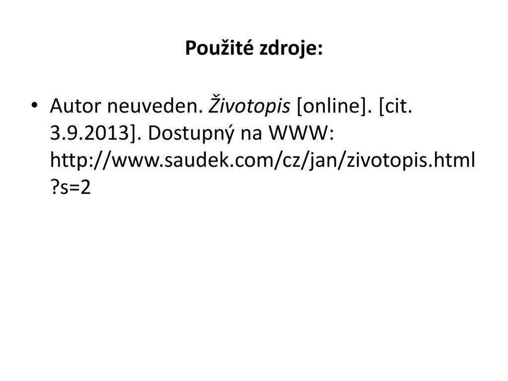 Jan Saudek Cislo Projektu Cz 1 07 1 5 00 Cislo Materialu Ppt Stahnout