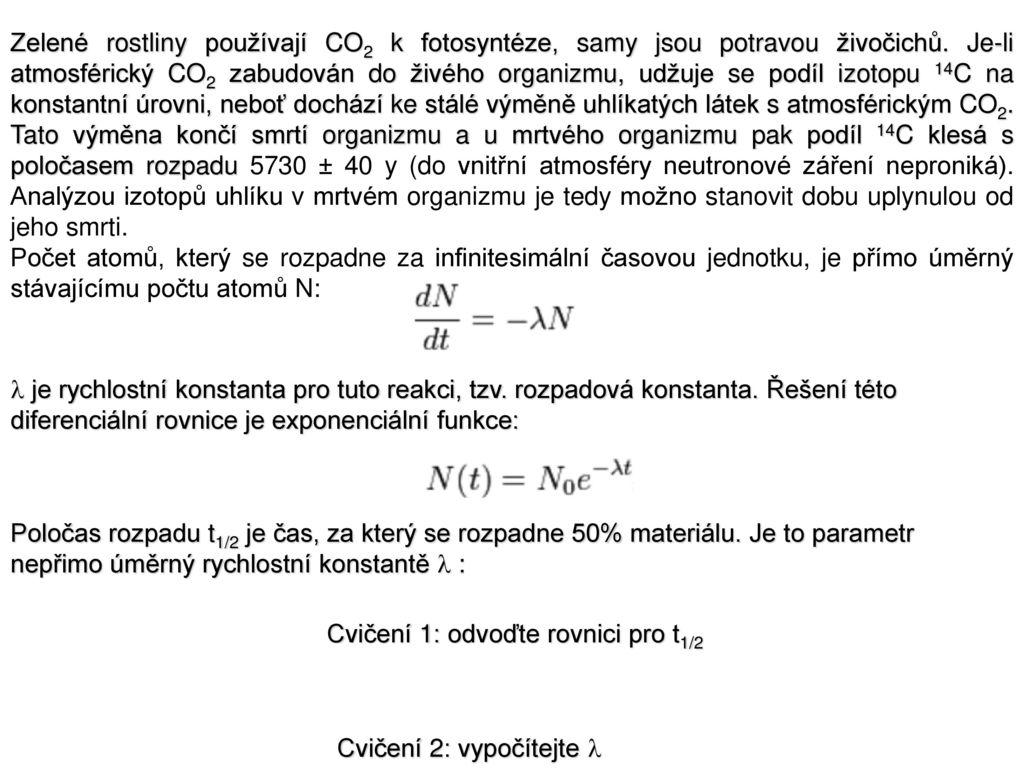 izotopová datovací rovnice