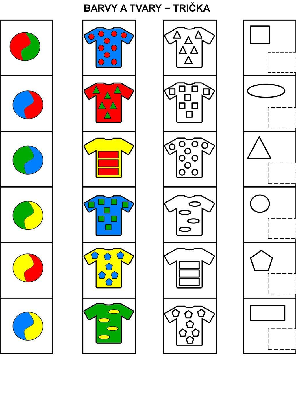 Barvy A Tvary A Pracovni List Urceny Pro Rozvoj Zrakoveho Vnimani A