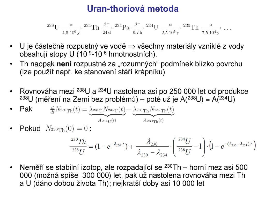 omezení datování olověným uranem