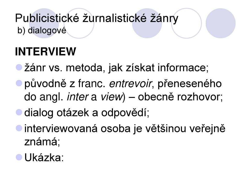 CJBB169 Jazyk a styl žurnalistiky PS ppt stáhnout 0277d891bed