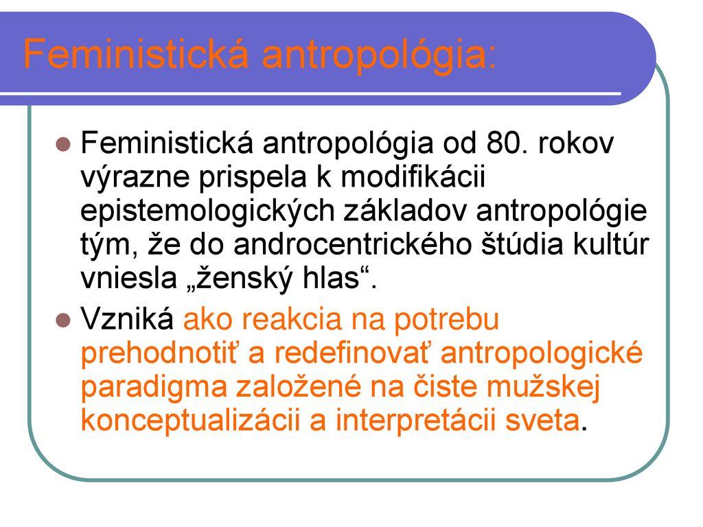 datovania metódy v antropológii