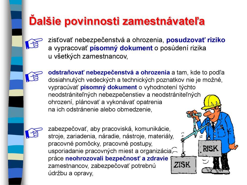 9d2cb9141 Povinnosti zamestnávateľov Povinnosti a práva zamestnancov - ppt ...