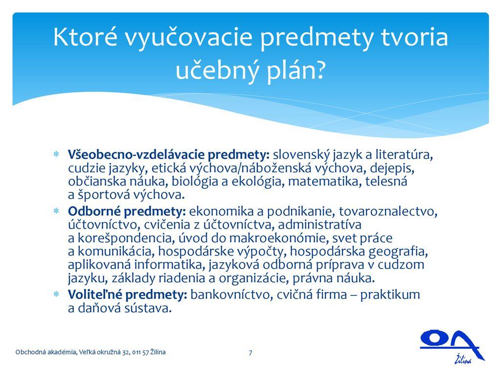 Obchodná akadémia Veľká okružná Žilina - ppt stáhnout 49e6869d677