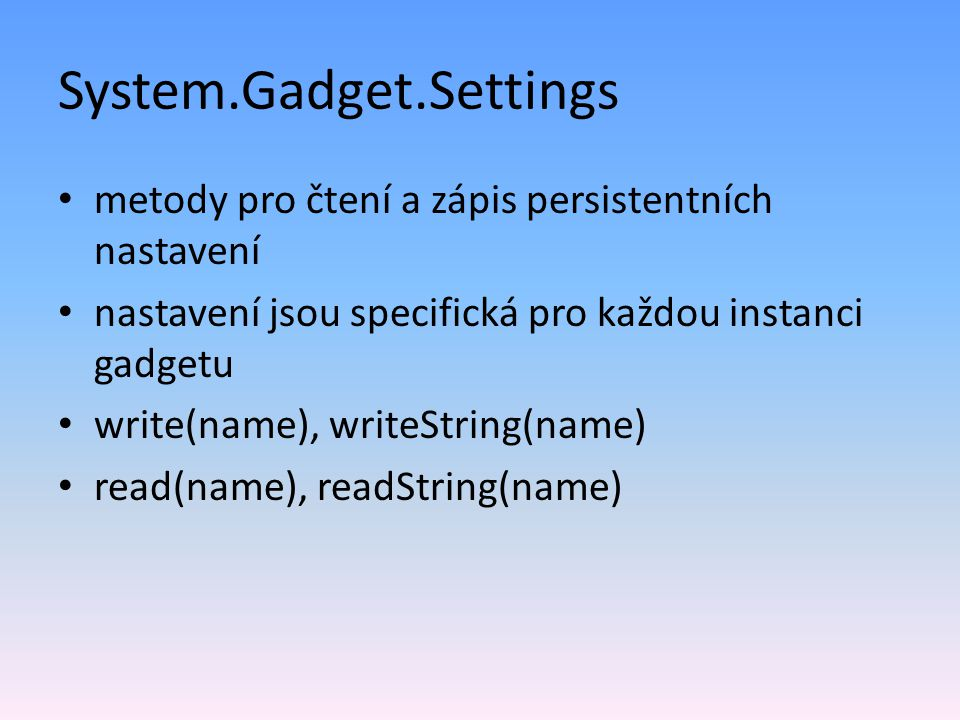 System.Gadget.Settings