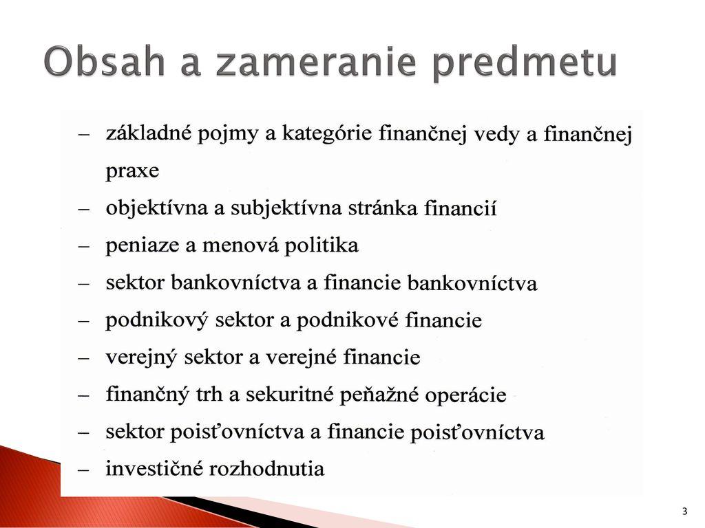 Ing  Zuzana Čierna, PhD  Katedra financií - ppt stáhnout