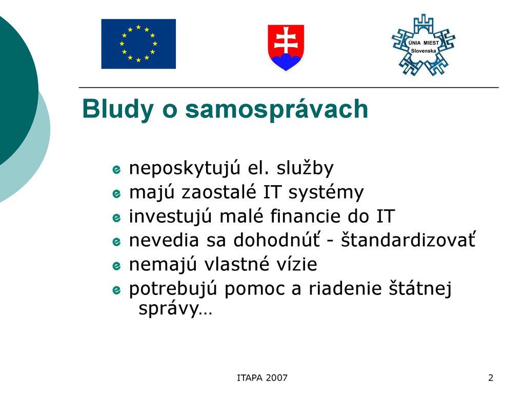 3872a8779169 Data Centrum Miest a Obcí Elektronické služby slovenských samospráv ...