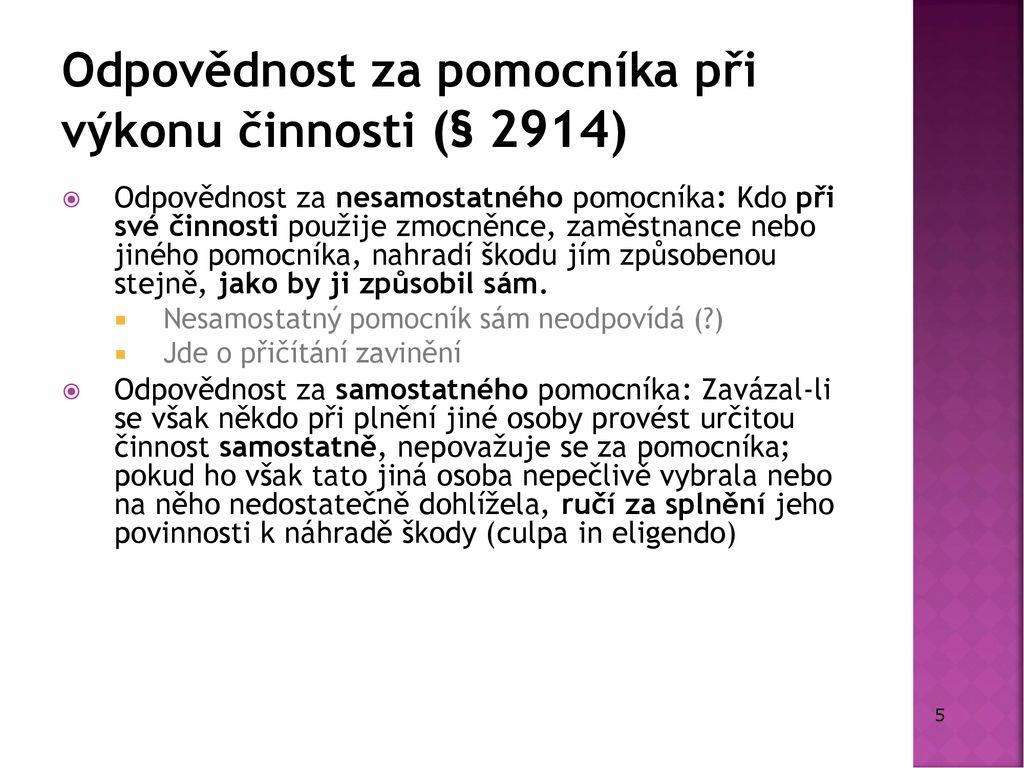 fdefafb8d5 Mgr. Jan Siostrzonek Odpovědnost za škodu Mgr. Jan Siostrzonek - ppt ...