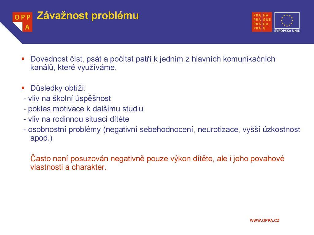 Seznamování webových stránek pro poruchy učení
