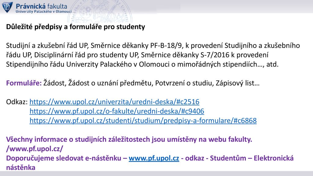 Akademicky Rok 2018 2019 Zapis Ke Studiu Ppt Stahnout