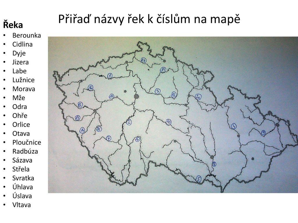 Vodstvo Reky Cr Slepa Mapa Ppt Stahnout