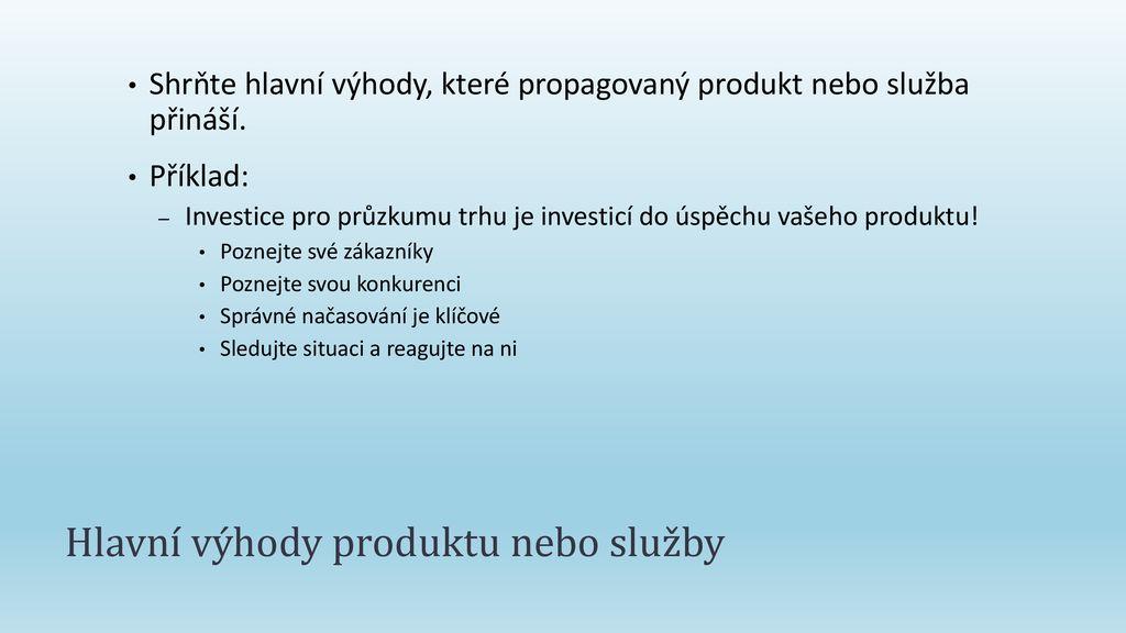 Prodeji produktu nebo služby - ppt stáhnout fdd6ade085