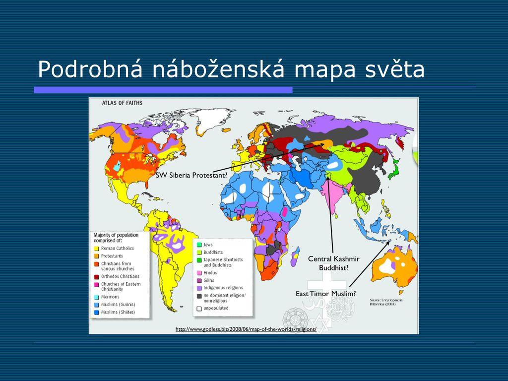 Nabozenska Mapa Soucasneho Sveta Ppt Stahnout