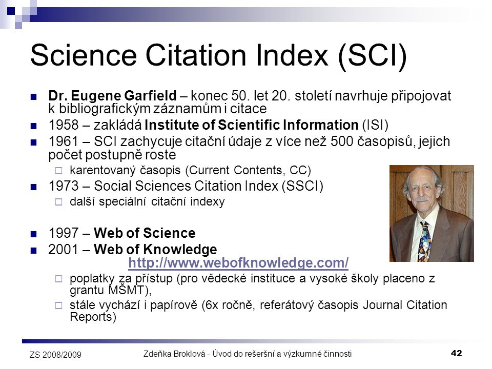 Science Citation Index (SCI)