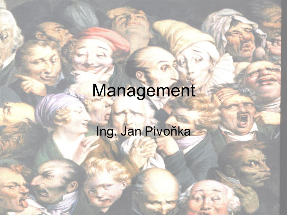 Management Ing. Jan Pivoňka