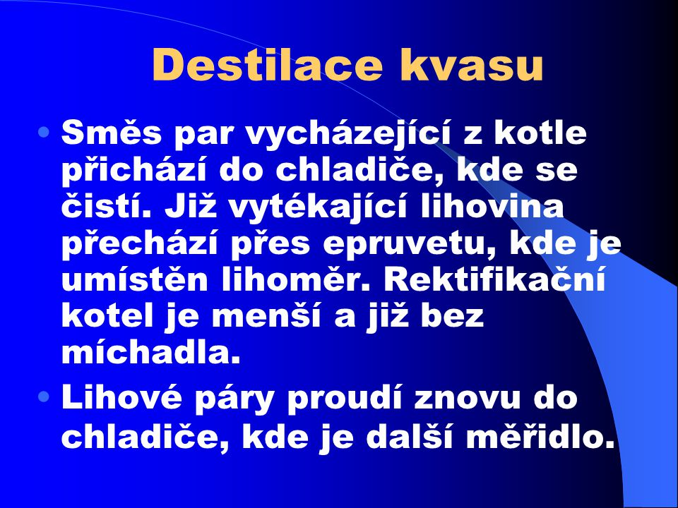 Destilace kvasu