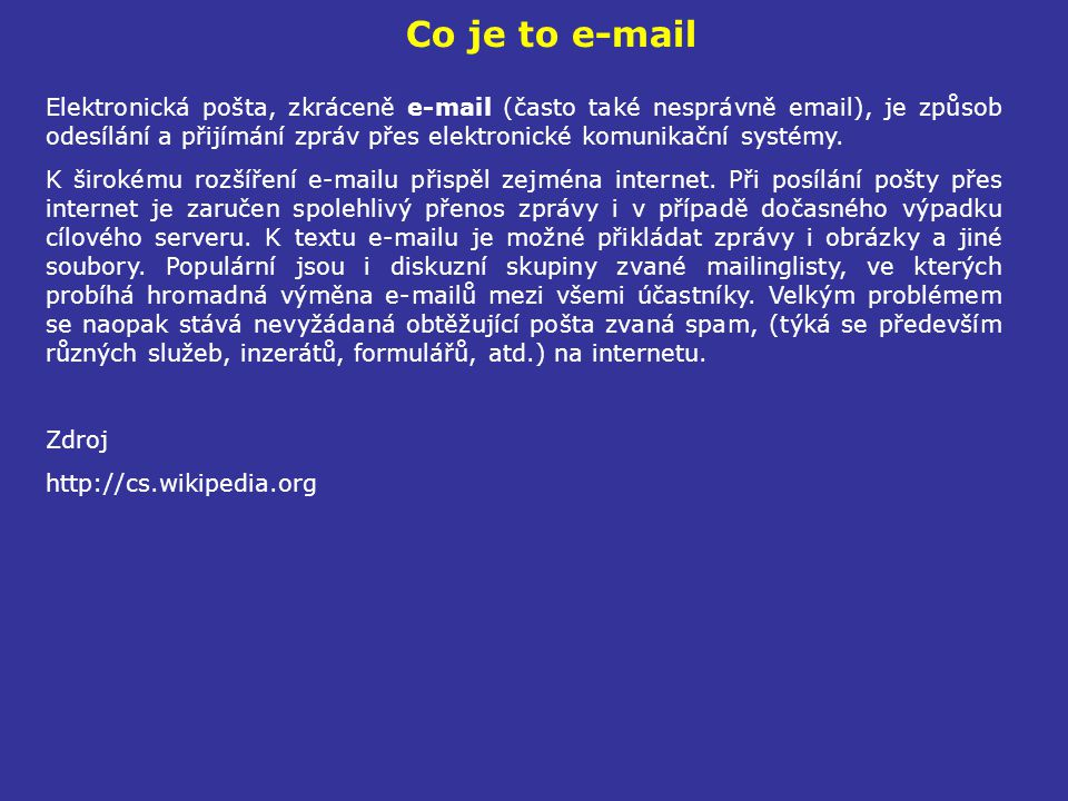 Co je to e-mail