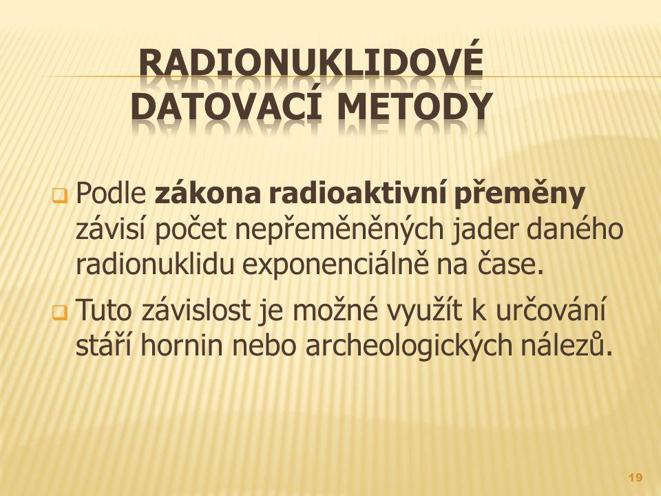 Definice radiometrické datovací metody