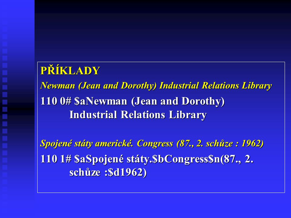 110 0# $aNewman (Jean and Dorothy) Industrial Relations Library