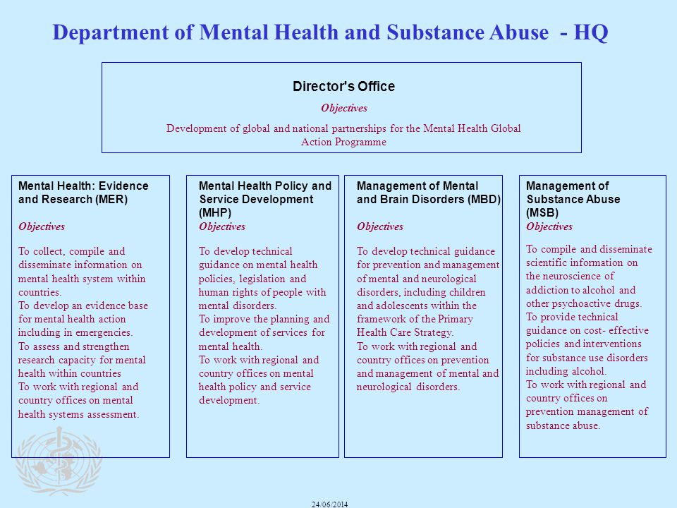 Department of Mental Health and Substance Abuse - HQ