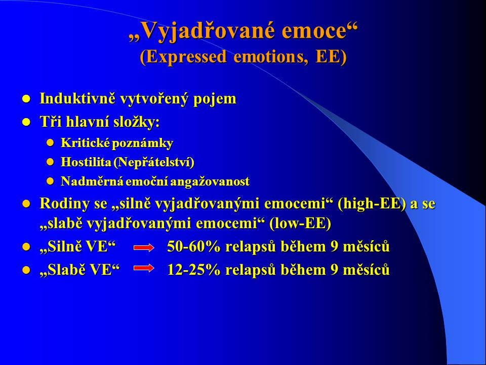 """Vyjadřované emoce (Expressed emotions, EE)"