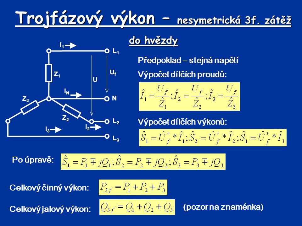 Výpočet proudu 3f