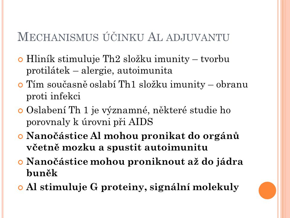 Mechanismus účinku Al adjuvantu