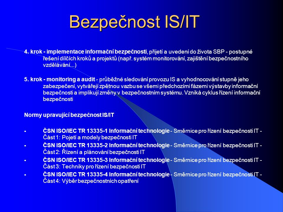 Bezpečnost IS/IT