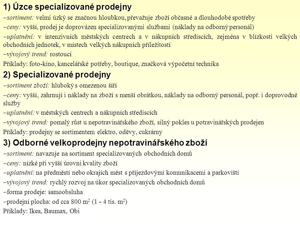 1) Úzce specializované prodejny - ppt stáhnout 27c5d7cc85d