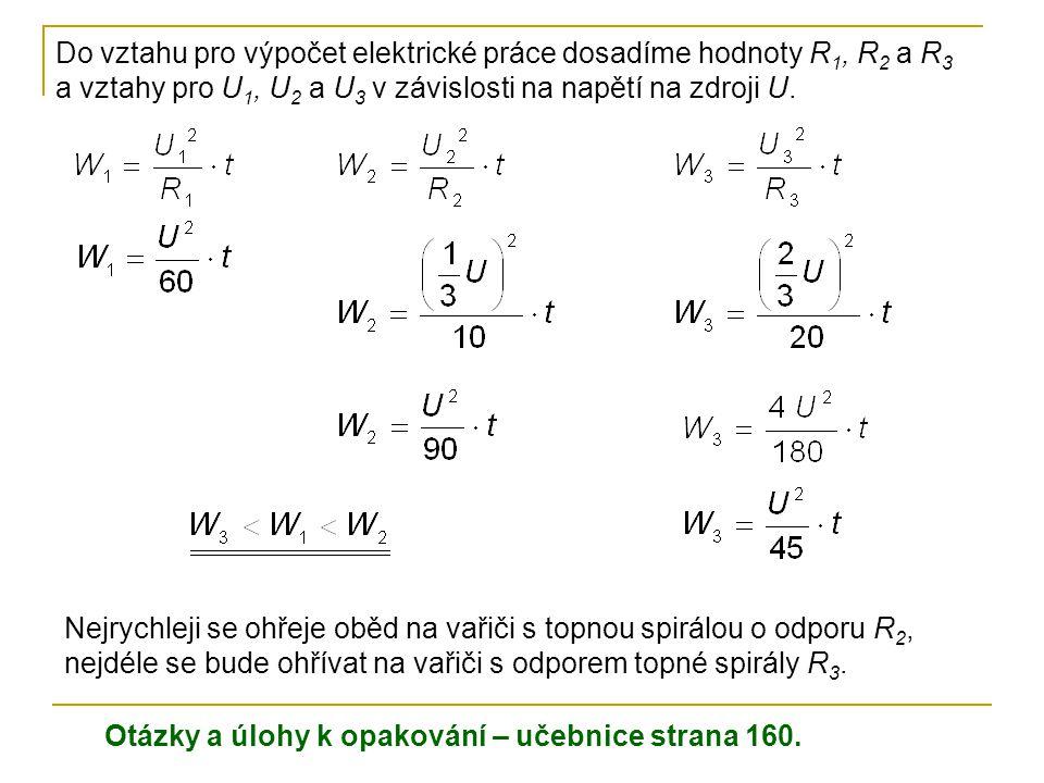 Elektrická práce a výkon-příklady